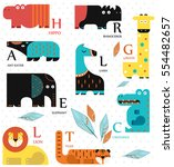 vector illustration. set of... | Shutterstock .eps vector #554482657