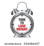 time to lose weight on retro... | Shutterstock .eps vector #554486437