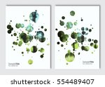 flyer layout template. vector... | Shutterstock .eps vector #554489407