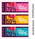 set of horizontal sale header... | Shutterstock .eps vector #554492263
