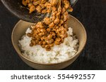 Small photo of Soybean fermented food (natto) Japanese foods which let you ferment with straw