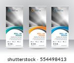 roll up banner stand template... | Shutterstock .eps vector #554498413