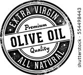 vintage olive oil stamp design | Shutterstock .eps vector #554498443