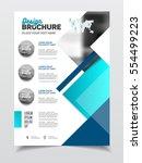 business brochure design.... | Shutterstock .eps vector #554499223