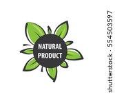 eco green logos vector ... | Shutterstock .eps vector #554503597