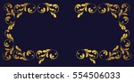 gold frame and borders. floral... | Shutterstock .eps vector #554506033