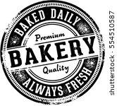 vintage bakery sign | Shutterstock .eps vector #554510587