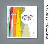 cover new annual report... | Shutterstock .eps vector #554547577