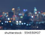 abstract blurred lights  city... | Shutterstock . vector #554550937
