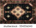 persian carpet texture ... | Shutterstock . vector #554556343