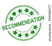 grunge green recommendation... | Shutterstock .eps vector #554560477