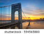 Small photo of Sunrise at George Washington Bridge from New Jersey
