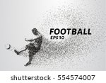 football of the particles... | Shutterstock .eps vector #554574007