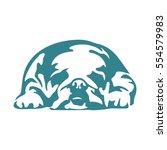 lazy dog | Shutterstock .eps vector #554579983