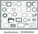 frame border set  vector ... | Shutterstock .eps vector #554584963