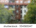 Rain Drops On Window With...
