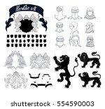 vector heraldic set | Shutterstock .eps vector #554590003