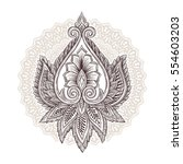 ornamental hand drawn sketch... | Shutterstock .eps vector #554603203