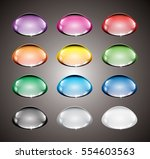 set of abstract multi color... | Shutterstock .eps vector #554603563