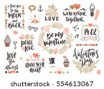 valentine's day hand drawn... | Shutterstock .eps vector #554613067