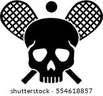 skull with crossed squash...   Shutterstock .eps vector #554618857