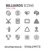 simple modern set of billiards... | Shutterstock .eps vector #554619973