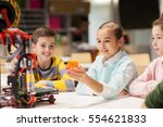 education  children  technology ... | Shutterstock . vector #554621833