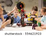 education  children  technology ... | Shutterstock . vector #554621923