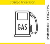 gas station linear icon. thin... | Shutterstock .eps vector #554624443