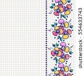 floral frame. hand drawn... | Shutterstock .eps vector #554633743
