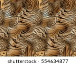 tiger and leopard skin... | Shutterstock . vector #554634877