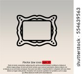 web line icon. picture frame. | Shutterstock .eps vector #554639563