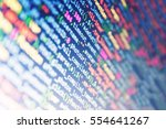 monitor closeup of function...   Shutterstock . vector #554641267