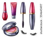 watercolor illustration  make... | Shutterstock . vector #554645497