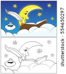 coloring book illustration with ... | Shutterstock .eps vector #554650297
