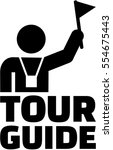 tour guide pictogram