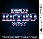 retro pink and blue disco 80's... | Shutterstock .eps vector #554692363
