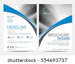 brochure template flyer... | Shutterstock .eps vector #554693737