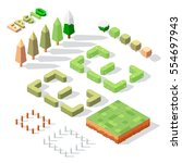vector isometric season trees... | Shutterstock .eps vector #554697943