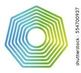 octagon figure geometric lines... | Shutterstock .eps vector #554700937