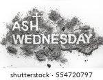 ash wednesday word written in... | Shutterstock . vector #554720797