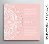 invitation or card template... | Shutterstock .eps vector #554739673