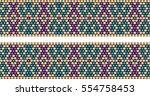 trendy  modern ethnic  beaded ... | Shutterstock .eps vector #554758453