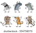 vector illustration of a six... | Shutterstock .eps vector #554758573
