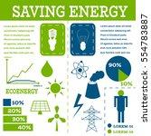 ecology infographic fluorescent ... | Shutterstock . vector #554783887
