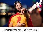 crazy super hero joking | Shutterstock . vector #554793457