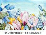 Watercolor Flowers  ...