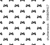 video game controller pattern.... | Shutterstock .eps vector #554809417