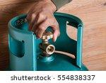 closeup man's hand operating...   Shutterstock . vector #554838337