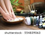 thai spa treatment and product  ... | Shutterstock . vector #554839063